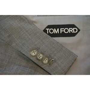 Tom Ford Solid Gray 100% Wool Sport Coat Jacket